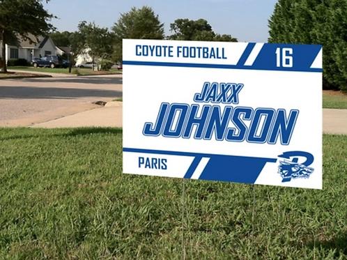 Player Yard Sign