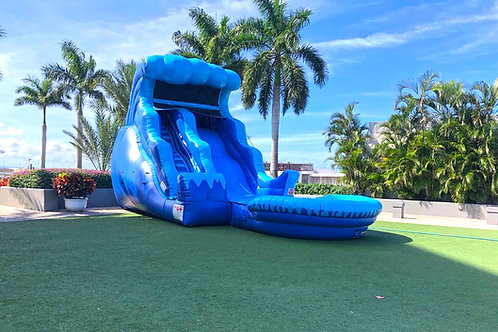 18' Double Drop Wave Slide Pool
