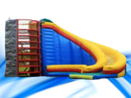 Spider Web with Slide and Climbing Wall Combo
