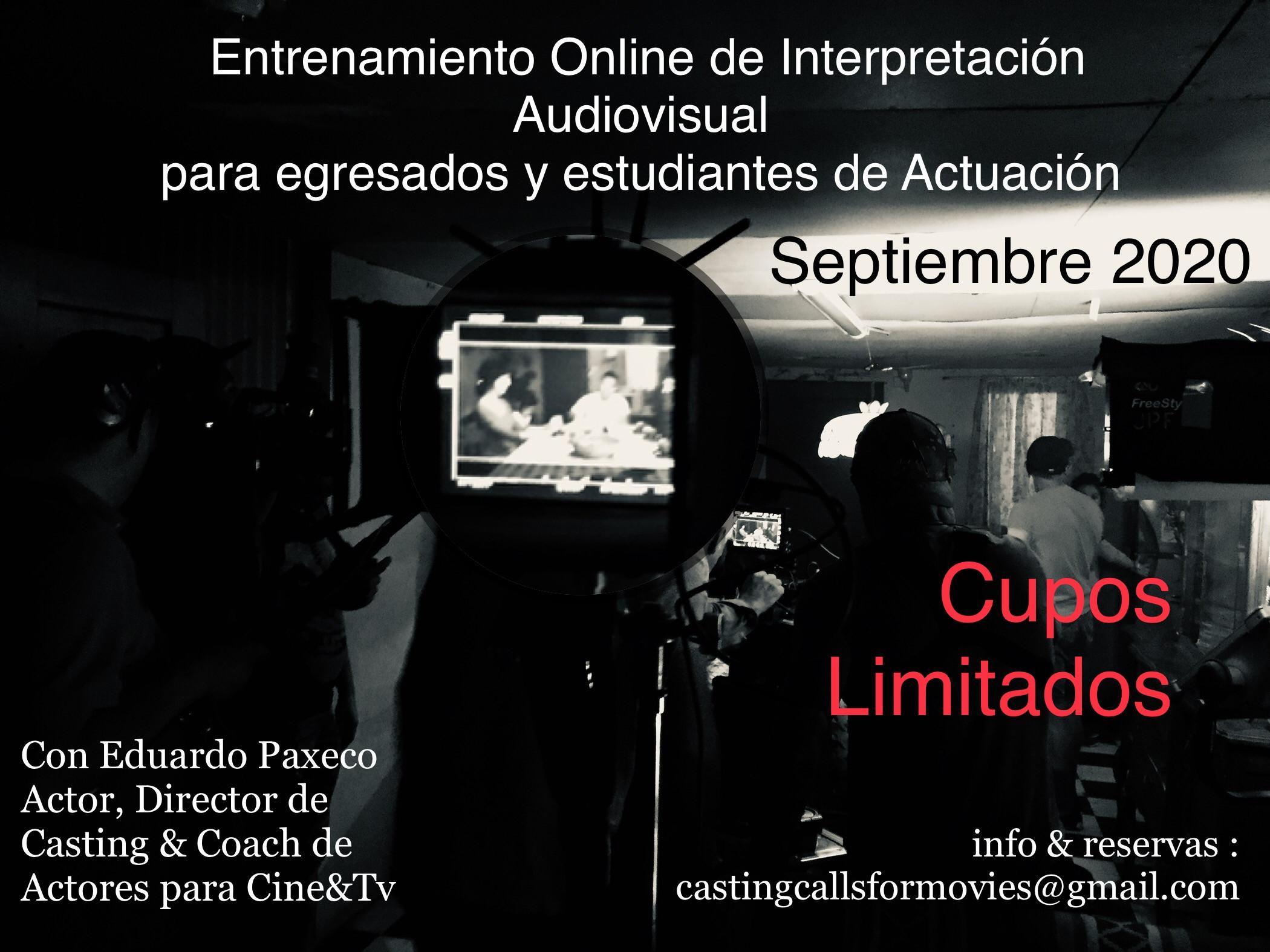 Workshop/Taller de Actuación Cine&Tv