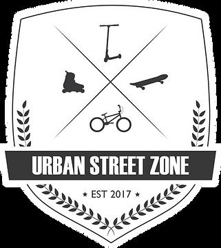 Urban Street Zone Skjold logo - vektor fil inverterede farver.png