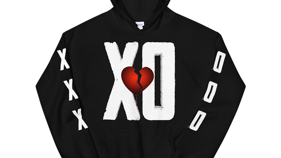XO:HUGS N KISSES Black Hoodie