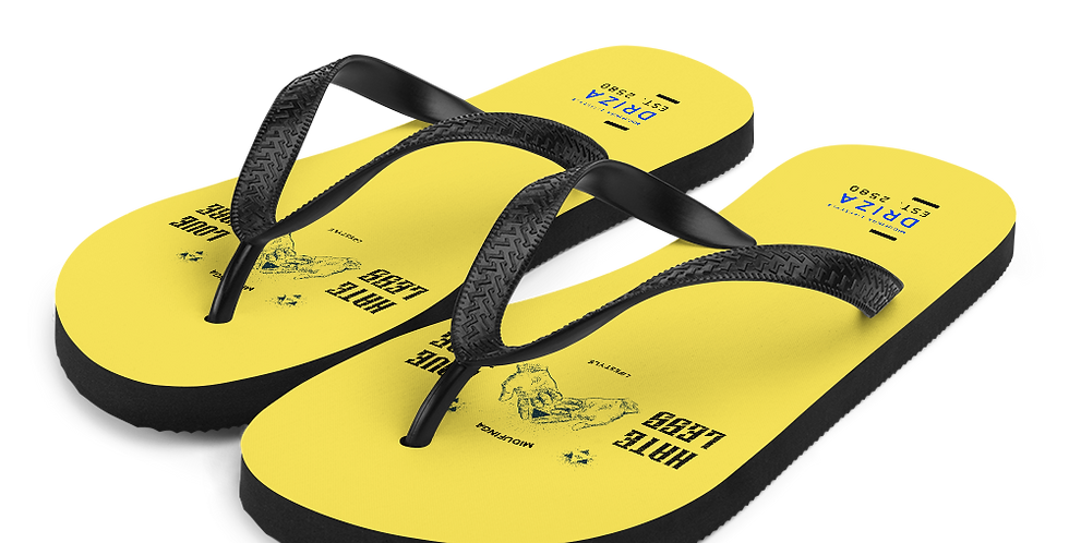 Hate Less Love More Special Edition Flip-Flops