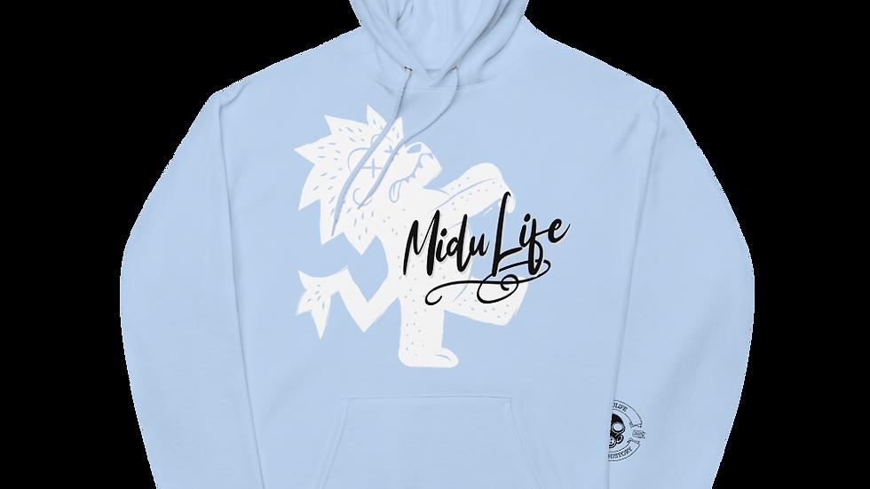 MiduLife Lion Front Fleece Hoodie
