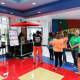 Refill Coffee Cart serving teachers at an East Tennessee area elementay school.
