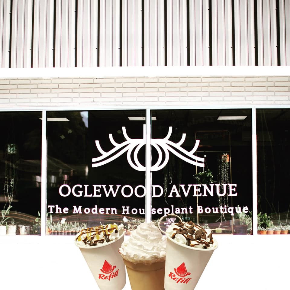 Refill Coffee Cart served at the grand opening of Oglewood Avenue's store in Knoxville, Tennessee
