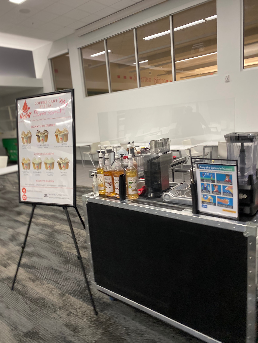 Refill Coffee Cart at Webb School of Knoxville