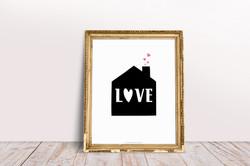 Affiche Maison Love