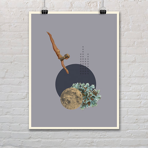 Moonlight Diver 4 - Printable