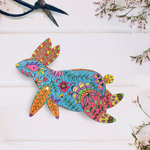 Mr. Rabbit -  Coloring Paper Toy
