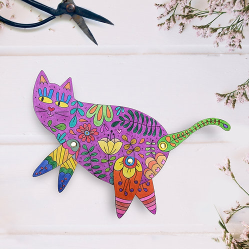 Mrs. Cat -  Coloring Paper Toy