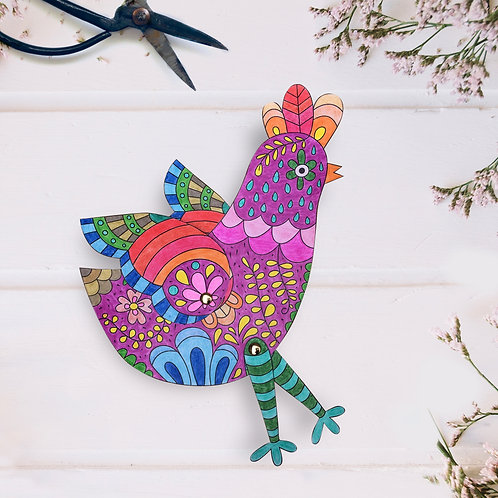 Mrs. Hen -  Coloring Paper Toy