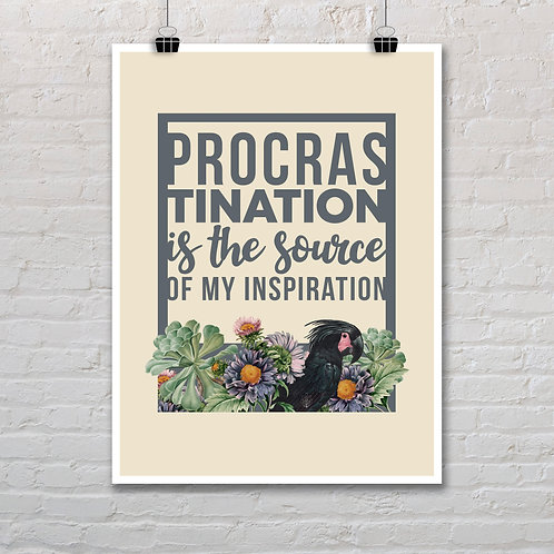 Procrastination - Printable Quote
