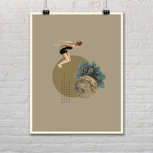 Moonlight Diver 5 - Printable