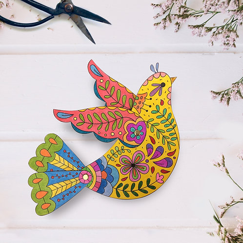 Mr. Bird -  Coloring Paper Toy