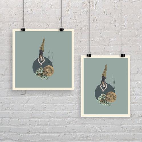 Moonlight Diver 3 - Art Print
