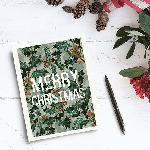 Christmas Card - Leaves