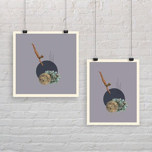 Moonlight Diver 4 - Art Print