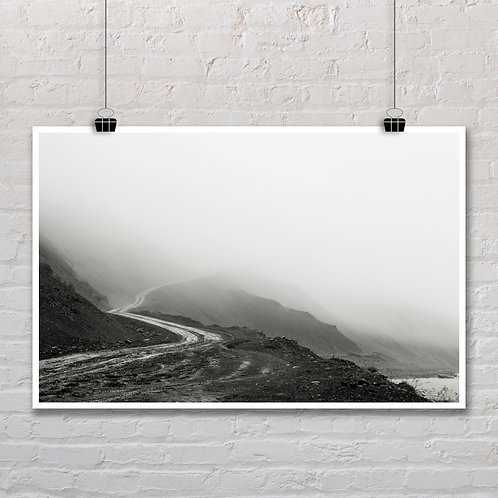 Foggy Road - Photo Printable