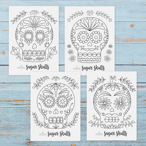 Sugar Skull Bundle - Coloring Pages