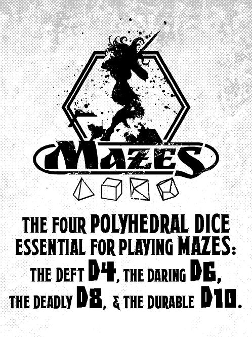 Mazes dice set