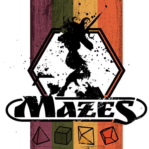Mazes Zine - a Polymorph adventure set
