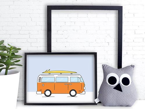 Le bus VW.