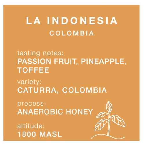 Carrow Coffee BEANS 250g La Indonesia - Colombia