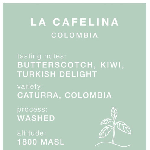 Carrow Coffee 250g GROUND for French Press - La Cafelina, Colombia