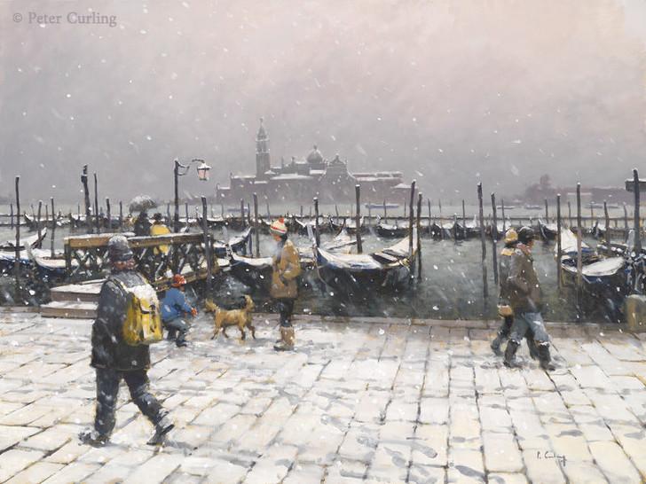 Snow on the Molo, Venice