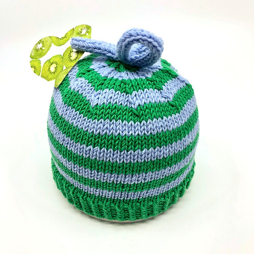 Blue & Green Stripey Hat