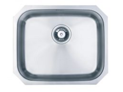 SC 004 undermount, large bowl kitchen sink in brushed steel finish