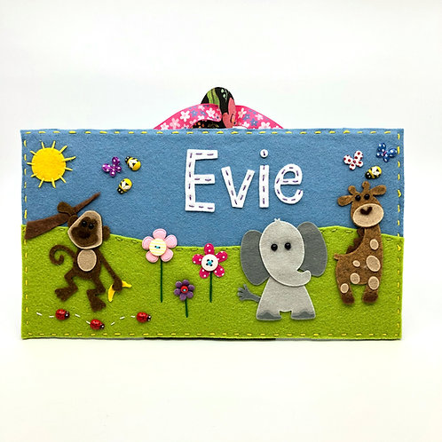 Personalised Jungle Animals Door Plaque