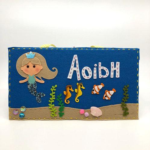 Personalised Mermaid Under the Sea Door Plaque