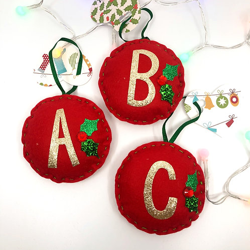 Monogram Christmas Tree Decorations