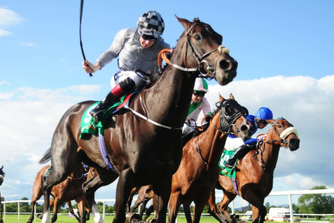 Gorane winning Listed Race at Tipperary