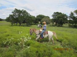 On horseback, Texas