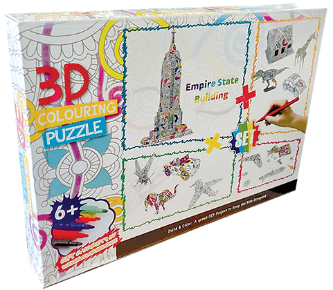 Full set 3D Coloring Art Puzzle with Markers (SMRP $22)