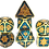 Thumbnail: Style: Harlequin Gold, Metal RPG Dice (MSRP $45)