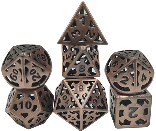 Hollow Copper RPG Dice (MSRP $120)