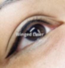 eyeliner with a wing, permanent eyeliner, tattooed eyeliner