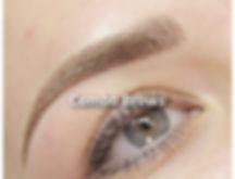 combination brow, combination eyebrow, semi-permanent eyebrow