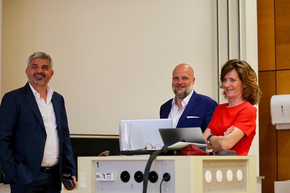 Amin Shokrollahi, Patrick Thiébaud and Stéphanie Fontugne