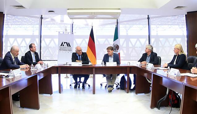 Declaratoria de ratificación de compromisos entre la Universidad Autónoma Metropolitana  y la Universidad Duisburg-Essen, Alemania.  Foto: Archivo UAM-DCS / Alejandro Juárez Gallardo.