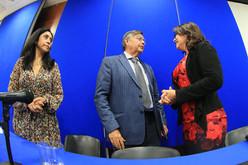 Dra. Angélica Buendía Espinosa, Dr. Fernando de León González y Dra. Carmen Enedina Rodríguez Armenta