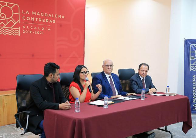 Juan José Sánchez, Patricia Jimena Ortiz Couturier, Eduardo Peñalosa Castro y Joaquín Flores