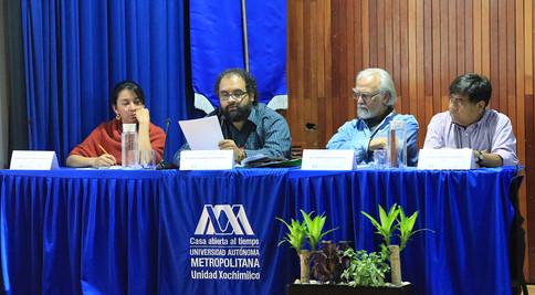 Mtra. Tania A. Casaya Rodríguez,  Dr. Milton Gabriel Hernández García, Dr. Armando Bartra Vergés y Lic. Félix Venancio González