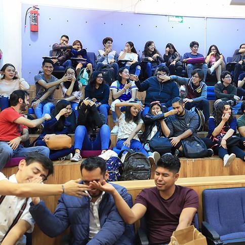 La doctora impartió la conferencia titulada: Neuronas y baile en el auditorio Tania Larrauri de la Unidad Xochimilco de la Universidad Autónoma Metropolitana.  Foto: Archivo UAM-DCS / Alejandro Juárez Gallardo.