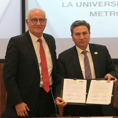 Dr. Eduardo Peñalosa y Mtro. Mario Velázquez