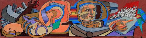 Mural en la fachada de la biblioteca.  Foto: Archivo UAM-DCS / Alejandro Juárez Gallardo.